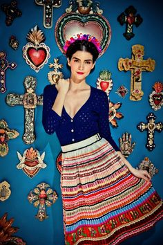 Lena Hoschek – I love how the skirt is this perfect combination of whimsical (the colors) and serious (the pleats)