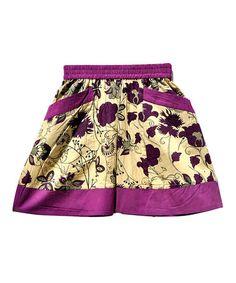 Look at this #zulilyfind! Purple Floral Skirt - Toddler & Girls by textures #zulilyfinds