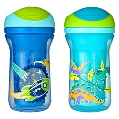 Tommee Tippee Explora Sippy Cups - purportedly one of the very few brands that don't leak/spill at all or easily.