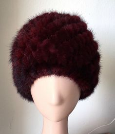 9eca53bc8ca MADAME HELENE FURS LUXURY FASHION WINE RED KNITTED MINK FUR BEANIE HAT OS  NWT  fashion  clothing  shoes  accessories  womensaccessories  hats (ebay  link)