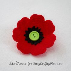 Spring flowers: Red Poppy Felt Craft  – A Remembrance, Armistice or Veteran's…
