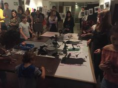 Printmaking demo with The Printing Press Durban at Open Studio's Exhibition night