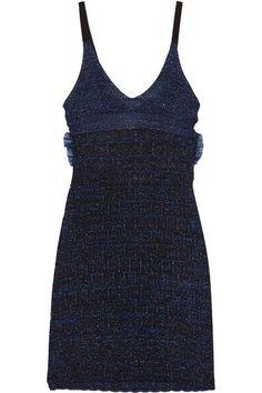 KENZO - Cutout Metallic Knitted Mini Dress - Midnight blue - x small