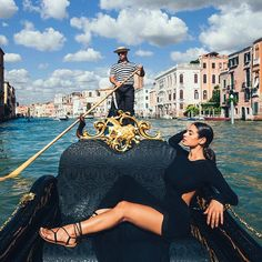 """""""My gondola would be black and gold."""""""