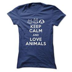 Keep calm and love animals Veterinarian T-shirt