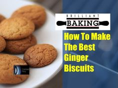 Ginger Biscuits - Makes around 20 biscuits  175g self-raising flour 115g soft brown sugar 1 level tsp bicarbonate of soda 55g unsalted butter 1 heaped tsp ground ginger 1 rounded tsp golden syrup 1 medium egg (beaten)  Pre-heat oven to 180C/160C(Fan)/350F/Gas Mark 4.  Place the flour, bicarbonate of soda and ground ginger in a mixing bowl. Mix until combined.  Place the sugar, butter and golden syrup in a saucepan. Place on the hob and melt together.