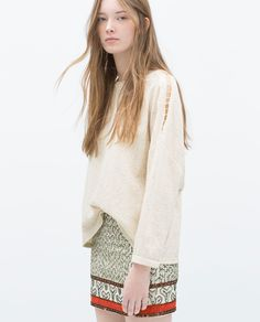 Image 2 of PRINTED SKIRT from Zara