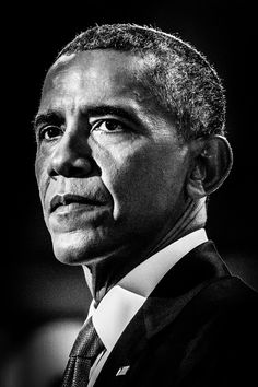 """**** Jacqueline OBoomer: Orator-in-Chief He wrote what he saw """"in Lincoln's eyes"""" And to some of us reading it was no surprise That we were certainly in for a treat When Barack H. Obama rose to his… Black And White Portraits, Black And White Photography, Barack Obama, Obama Portrait, Barack And Michelle, The Orator, Face Expressions, Celebrity Portraits, Us Presidents"""