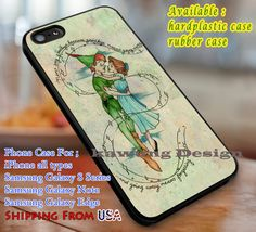 Never Say Goodbye Peter Pan Wendy iPhone 6s 6 6s 6plus Cases Samsung Galaxy s5 s6 Edge NOTE 5 4 3 #cartoon #animated #disney #peterpan dl3