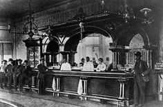 Tombstone AZ. Crystal Palace saloon interior. Wyatt Earp had a financial interest in this saloon.