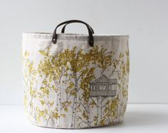 Medium Bucket Chambray Homestead by jennarosehandmade on Etsy