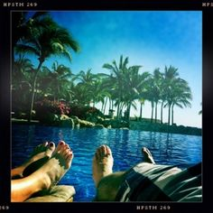 Cabo, lounging pool side.
