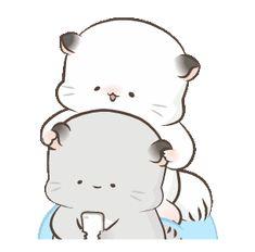 Cute Couple Cartoon, Cute Cartoon Pictures, Cute Love Cartoons, Cute Love Pictures, Cute Love Gif, Cute Cat Gif, Cute Anime Character, Cute Characters, Kawaii Drawings