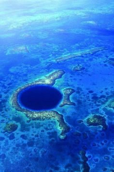 Blue hole. Belize - One place I want to dive!!