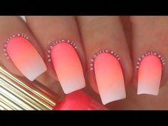 New nail art 2018 17 best nail art designs for short nails . Easy Nails, Easy Nail Art, Cool Nail Art, Simple Nails, Great Nails, Love Nails, Fun Nails, Spring Nail Art, Winter Nail Art