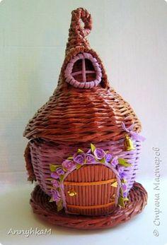 Поделка изделие Плетение Новый домик для феи Трубочки бумажные фото 1