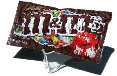 Weaving With Wrappers - Marvelous M&M Art by Peggy Dembicer #art #artist #handmade #woven