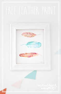 Free Feather Print   We Lived Happily Ever After   Bloglovin'