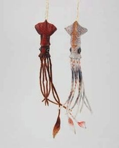 Giant Paper Squid Ornaments - 2 assorted