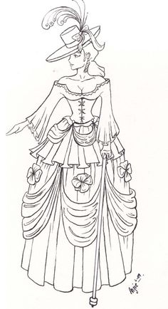 Ball gown coloring page for girls, printable free | Coloring Pages ...