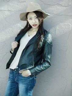Leather Jacket, Denim, Jeans, Jackets, Image, Heron, Bicycle, Fashion, Studded Leather Jacket
