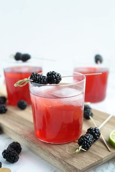 Try this Blackberry Tequila Cocktail for a summer barbecue