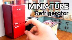 미니어쳐 냉장고 만들기#1 Miniature - Refrigerator #1 - by mimine. In Korean - but you can totally get what she's doing.