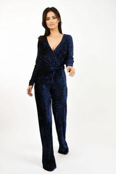 Salopeta Lille Couture din catifea plisata Bleumarin Couture, Roxy, Jumpsuit, Dresses, Fashion, Overalls, Vestidos, Moda, Fashion Styles