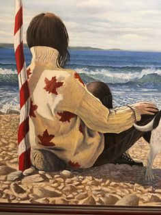 Margaret's Gift Sweater - a beautiful Maple Leaf sweater with a fascinating relationship to a wonderful painting!