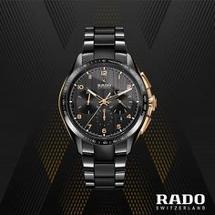 Rado Hyperchrome for at The Prime - Luxury Watch Boutique Mens Designer Watches, Luxury Watches For Men, Cool Watches, Rolex Watches, Wrist Watches, Authentic Watches, Rado, Beautiful Watches, Automatic Watch