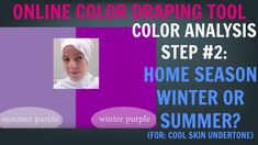 Color Analysis Test Step #2 For Cool Skin Undertone: Winter Color Palett...