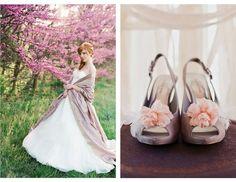 cherry blossom shoe clips