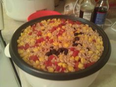 Rice Cooker Brown Rice with Black Beans, Tomatoes and Corn - BigOven 199987