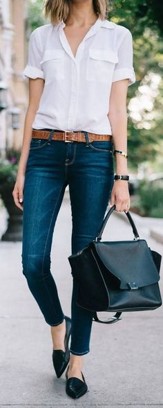 9+stylish+business+casual+outfits+with+flats+to+wear+this+spring