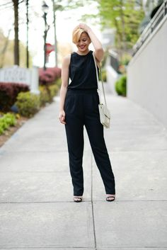 @FashionablyLo dresses up this sleeveless chiffon jumpsuit for the perfect night out with some heels and a red lip. http://www.fashionablylo.com/2015/04/50-style.html