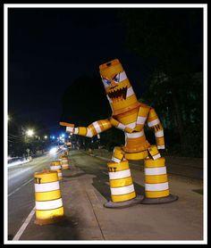 Towering Urban Street Sculptures : joe carnevale