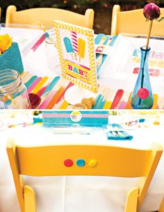 Love the Popsicle themed summer baby shower. So many DIY ideas. About to POP Popsicle Baby Shower Theme