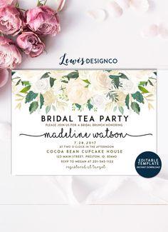 Bridal Tea Party Invite Bridal Shower Invitation