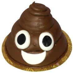 Poop emoji cake!