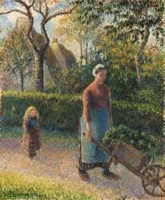 Pissarro - Femme la brouette, 1892.  Professional Artist is the foremost business magazine for visual artists. Visit ProfessionalArtistMag.com.