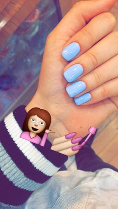 What manicure for what kind of nails? - My Nails Blue Gel Nails, My Nails, White Nails, Acrylic Nail Designs, Acrylic Nails, Gel Polish Designs, Acrylics, Manicure Y Pedicure, Dipped Nails