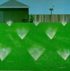 """A Lawn Being Sprinkled"" by David Hockney, 1967"