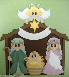 TOCG Nativity Scene Paper Piecing Set Scrappin with Mom