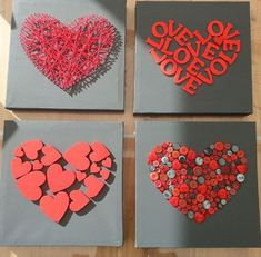 Love art for the bedroom - make Valentine& Day gifts yourself valentines day day day cards day crafts day food day ideas geschenk spruch Diy And Crafts, Crafts For Kids, Arts And Crafts, Paper Crafts, Valentines Day Decorations, Valentine Day Crafts, Cuadros Diy, Valentines Bricolage, Art Diy