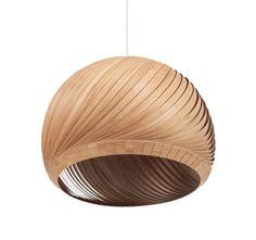 Modern Light Pendant Light Wind Wood Veneer Bamboo by Vayehi