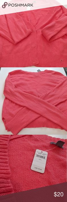 Aerie Coral Sweater NWT Aerie Coral Sweater D aerie Sweaters Cardigans