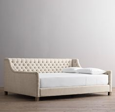Janis- this is the queen size daybed I was talking about from RH Baby & Child. Devyn Tufted Upholstered Daybed- size Queen $1349