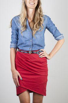 Layered Pencil Skirt