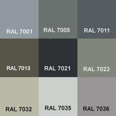 €/kg Colour Grey RAL Ground Colour Floor Coating Concrete Paint Garage Paint Window Frame Colours, Grey Window Frames, Grey Windows, House Windows, Exterior House Colors, Exterior Paint, Room Colors, Paint Colors, Ral Paint