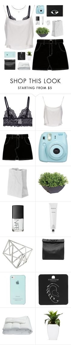"""""""mannequin"""" by flying-baby-unicorn ❤ liked on Polyvore featuring Jean-Paul Gaultier, Fujifilm, Rosenthal, Ethan Allen, NARS Cosmetics, Rodin, Topshop, Marie Turnor, Frette and Humble Chic"""